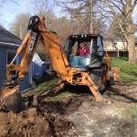 Our excavator Gery Van De Yacht