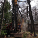 Drilling a screen well with our casing hammer