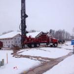 Drilling in winter
