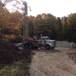 Fall drilling in Door Cty with new Gefco rig