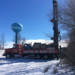 Drilling a monitoring well for the City of Shawano