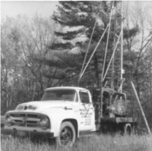 Original cable tool rig in 1963